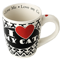 I Love My Cat Jumbo Mug, 28 oz