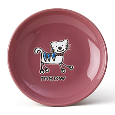 Silly Kitty Saucer, Pink, 2.5oz