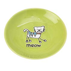 Silly Kitty Saucer, Lime Green, 2.5oz