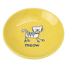 Silly Kitty Saucer, Yellow, 2.5oz