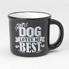 Daily Menu Dog Mug, Black/White, 16oz