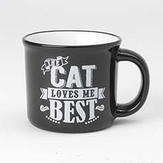 Daily Menu Cat Mug, Black/White, 16oz