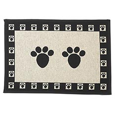 Paws Natural/Black Jumbo Tapestry Mat 28