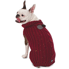 Corbin's Cable Sweater, Cranberry