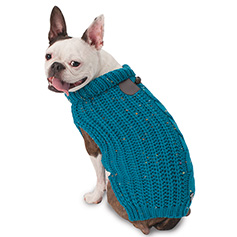Corbin's Cable Sweater, Teal