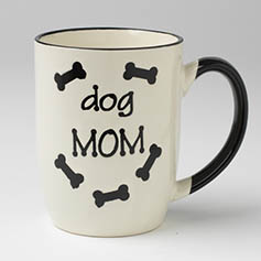 Dog Mom Mug, Natural, 24oz