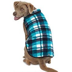 Riley's Fleece Vest, Blue Plaid