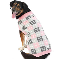 Piper's Plaid Sweater, Pink Plaid