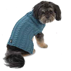 Marley's Cable Sweater, Slate Blue