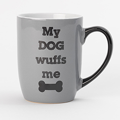 My Dog Wuffs Me Mug, Gray 24 oz