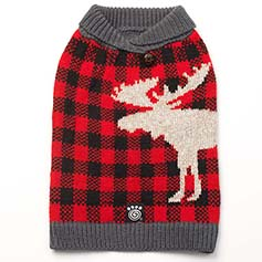 Jackson Moose Sweater, Red/Black
