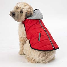 Stowe Puffer Coat, Red