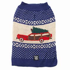 Clark's Wagon & Tree Sweater, Blue Multi
