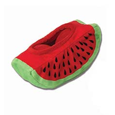 TreatRageous Watermelon Hide-a-Treat Plush Toy, 9