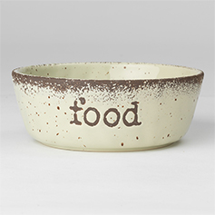 Crockery FOOD, Natural Speckled, 6