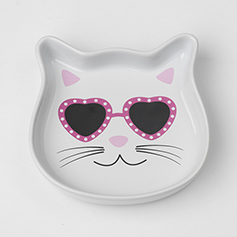 Diva Kitty Pink Cat Saucer