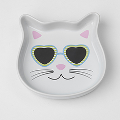 Stud Kitty Blue Cat Saucer