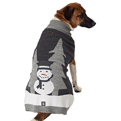 Tundra's Snowman Sweater, Gray