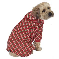 Plaid Dog PJs, Red