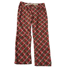 Plaid Unisex Human PJ Bottoms, Red