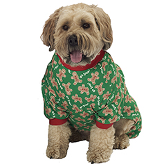 Oh Snap! Gingerbread Dog PJs, Green