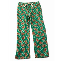 Oh Snap! Gingerbread Unisex Human PJ Bottoms, Green
