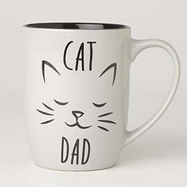 Cat Dad Mug 24oz, Gray
