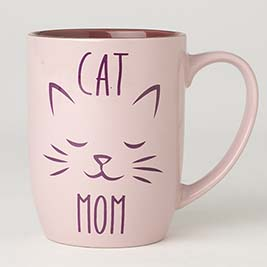 Cat Mom Mug 24oz, Pink