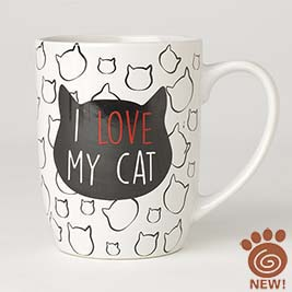 I Love My Cat Mug 24oz, White
