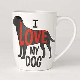 I Love My Dog Mug 24oz, White