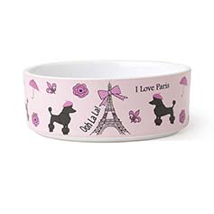 I Love Paris Dog Bowl 5