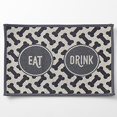 EAT DRINK Tapestry Mat, Gray 19