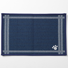 Mattress Ticking Tapestry Mat, Navy 19