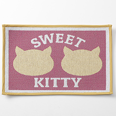 Sweet Kitty Tapestry Mat, Pink 19