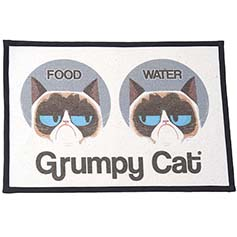 Grumpy Cat FOOD WATER Printed Woven Non-Slip Placemat 13