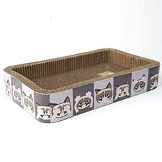 Grumpy Cat Here/See/Speak No Evil Corrugated Cat Scratcher, Gray 20