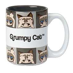 Grumpy Cat Mug, Gray 13.5 oz.