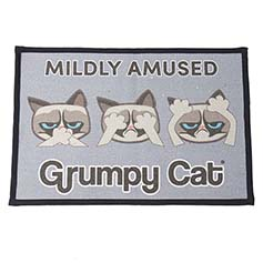 Grumpy Cat MILDLY AMUSED Printed Woven Non-Slip Placemat 13