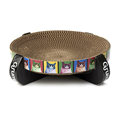 Grumpy Cat Pop Art Corrugated Cat Scratcher, Multi 13.78
