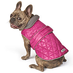 Eddie Bauer PET, Friday Harbor Reversible Vest, Fuchsia/Gray