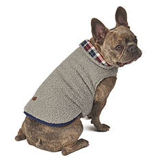 Eddie Bauer PET, Cordova Reversible Vest, Gray/Navy Plaid