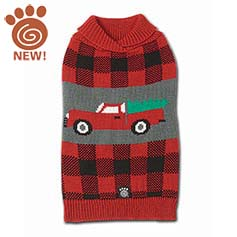 Jackson Tree & Truck Sweater, Red/Black