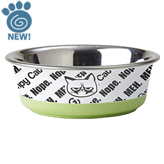 Grumpy Cat MEH Stainless Bowl 5.50